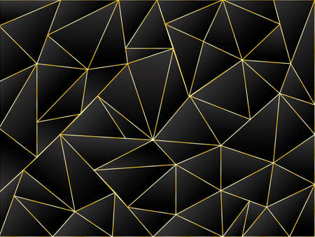 Black abstract low poly background. Vector stock  illustration for poster or banner Ilustrace
