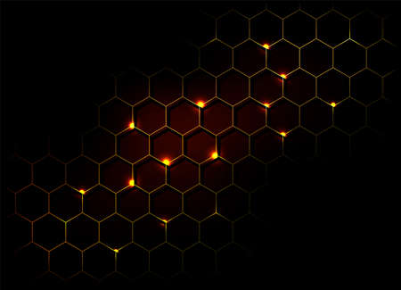 Honeycomb shiny  background. Vector stock illustration for poster or banner Ilustracja