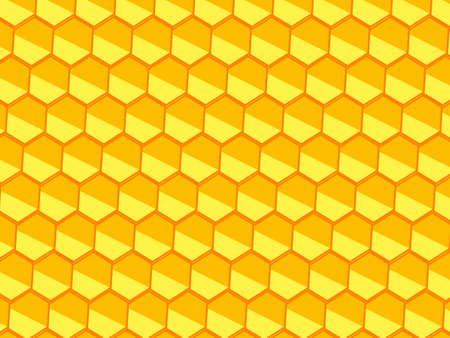 Honeycomb background. Vector stock illustration for poster or banner