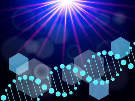 DNA abstract background. Vector stock illustration for poster or banner Ilustrace