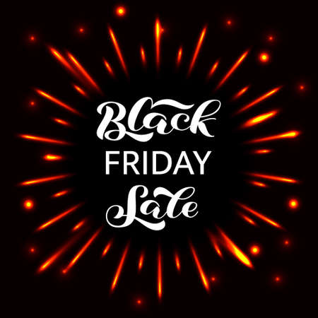 Black friday sale lettering. Quote for card or banner. Vector stock illustration Ilustrace