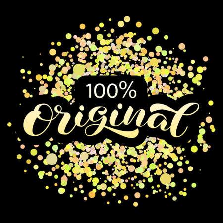 100% original brush lettering. Vector stock illustration for poster or banner