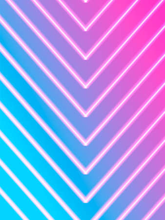 Neon striped lighting. Abstract background. Vector stock illustration for poster or banner