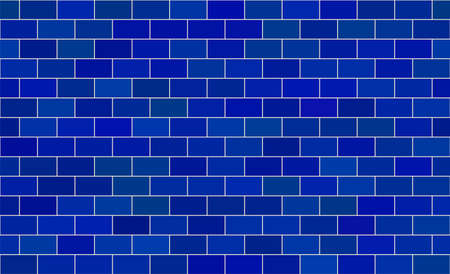 Seamless pattern. Blue brick background. Vector stock illustration for poster or banner  イラスト・ベクター素材