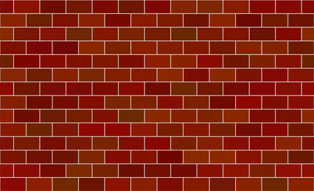 Seamless pattern. Brown brick background. Vector stock illustration for poster  イラスト・ベクター素材