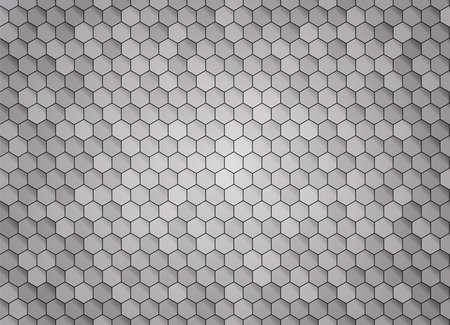 Honeycomb dark background. Vector stock illustration for poster or banner  イラスト・ベクター素材