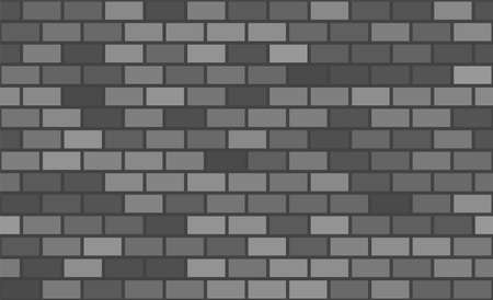 Seamless pattern. Grey brick background. Vector stock illustration for poster