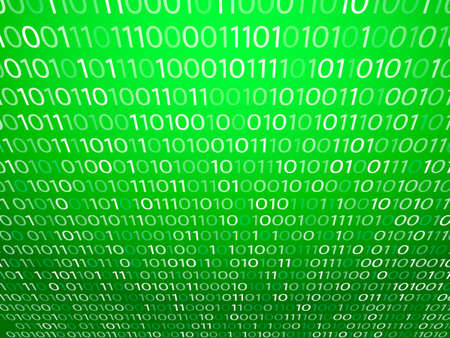 Matrix green background. Vector illustration for banner, card  イラスト・ベクター素材
