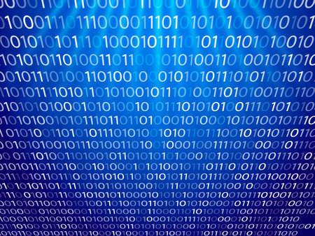 Matrix blue background. Vector illustration for banner, card or poster