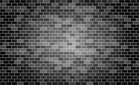 Seamless pattern. Gray brick background. Vector stock illustration for poster