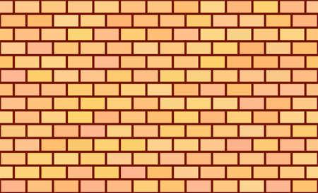 Seamless pattern. Beige brick background. Vector stock illustration for poster