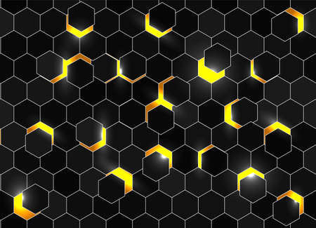 Honeycomb shiny background. Vector stock illustration for poster or banner