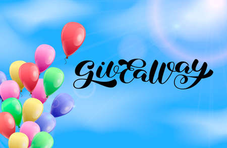 Giveaway brush lettering. Vector stock illustration for poster or banner