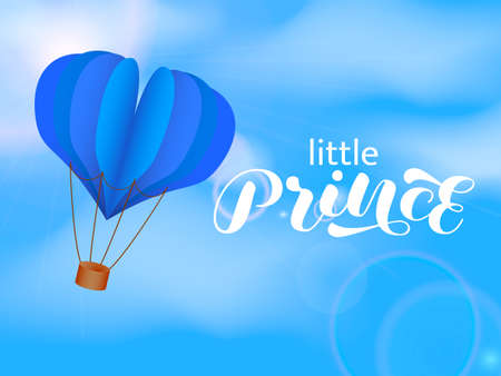 Little Prince brush lettering. Vector stock illustration for poster or banner