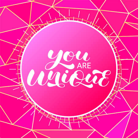You are a Unique brush lettering stock illustration for card or poster