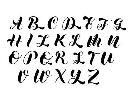 Big letters alphabet. Vector stock illustration for banner or shirt