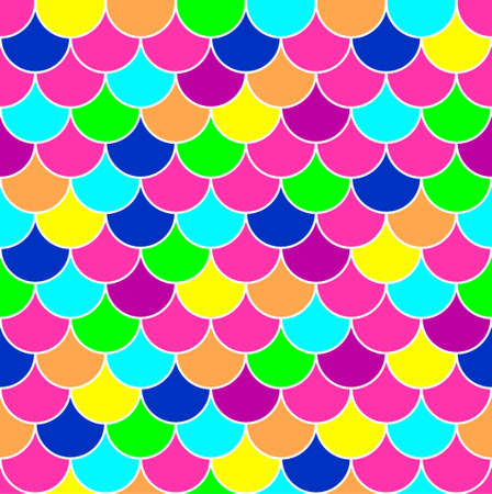 Mermaid scale. Rainbow background. Seamless pattern. Vector stock illustration for poster or banner