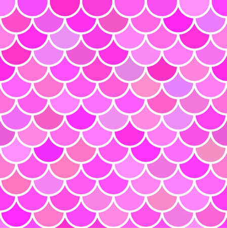 Mermaid scale. Pink background. Seamless pattern. Vector stock illustration for poster or banner