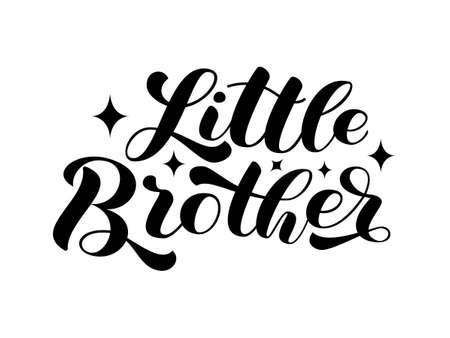Little Brother brush lettering. Word for banner or poster. Vector stock illustration Illusztráció
