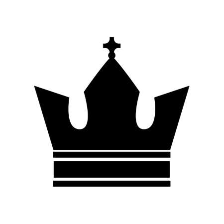 Black crown flat style isolated on a white background. Vector stock illustration for card or poster Illusztráció