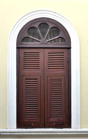 door casing: wood old window