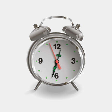 beat the clock: Vector alarm clock isolated on white for time design