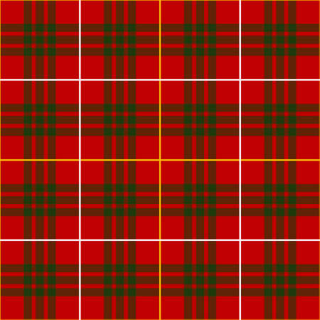 red plaid: Plaid seamless pattern - red and green colors - Vector illustration background Illustration