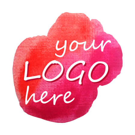 rood teken: Aquarel rood teken voor design - Vector Illustratie