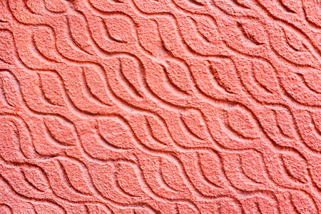 sloping: Red sloping wave wall - horizontal background Stock Photo