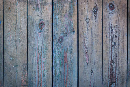 Old blue cracked painted wood background