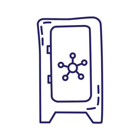 Old vault icon in line style on white background Illustration