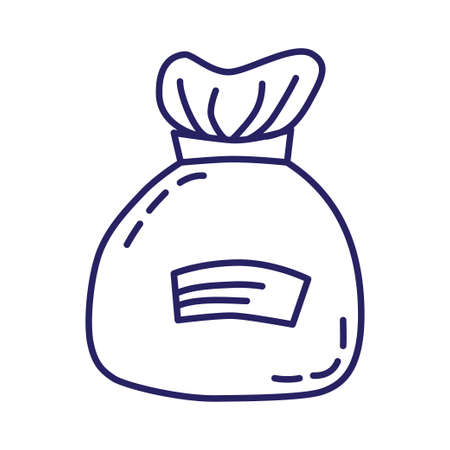 Bag icon in line style on white background