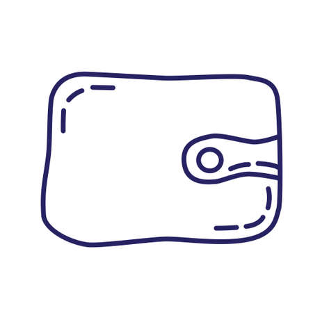Wallet icon in line style on white background