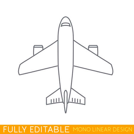 airplane icon: Airplane illustration. Airplane icon in a flat style. An airplane in the air concept. Illustration