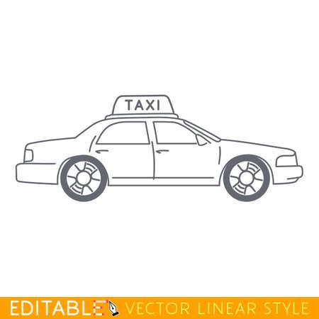 ny: Taxi NY. Editable vector icon in linear style. Illustration
