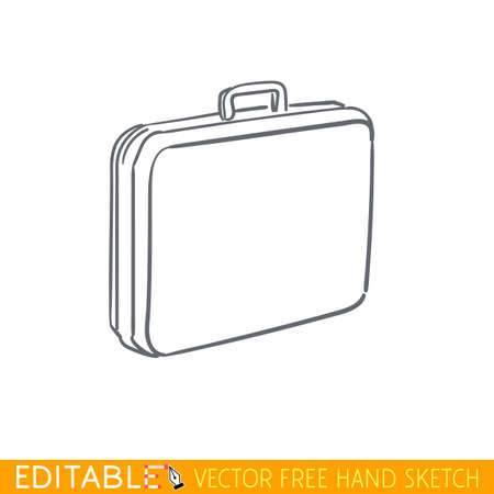 Suitcase. Editable vector icon in linear style.