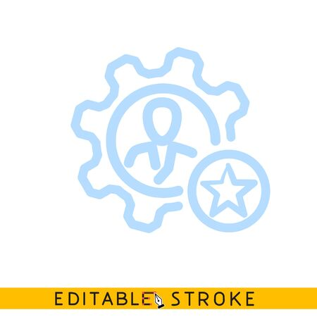 Human research setup icon. Line doodle sketch. Editable stroke icon.