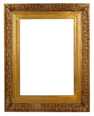 tarnished: Rectangular Decorative Picture Frame Stock Photo