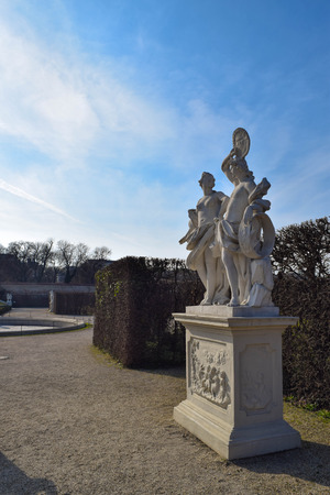 sculpture infront of palace in vienna