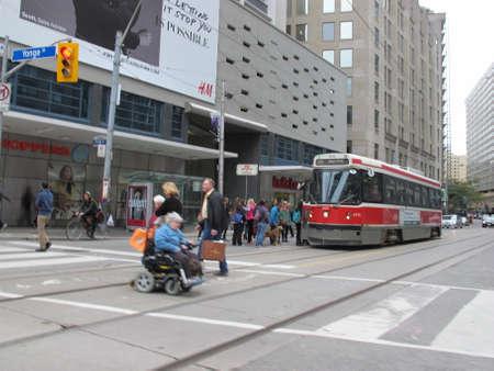 streetcar: streetcar in downtown