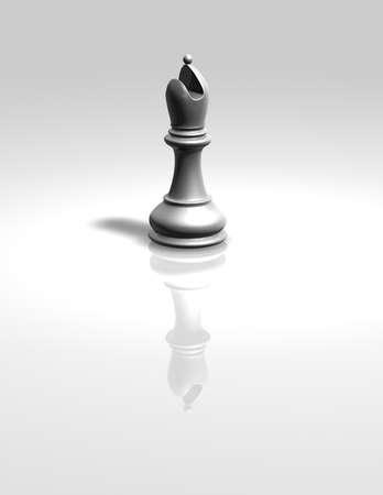 bishop: white chess bishop figurine isolated illustration Stock Photo