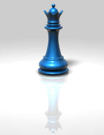 queen blue: blue chess queen isolated