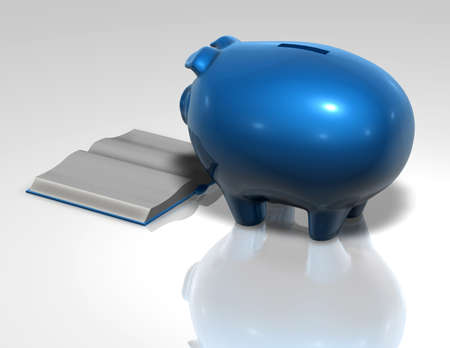 cocnept: financial education cocnept with piggy bank