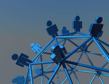 network marketing abstract background illustration illustration