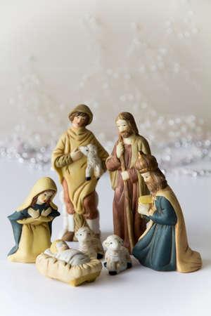 Light Nativity Scene Reklamní fotografie