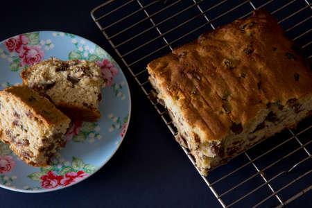 sultana: Sliced Sultana Cake Stock Photo