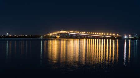 Auckland Harbour Bridge at Night over Waitemata Harbour