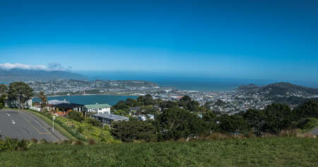 View towards Wellington Airport and Lyall Bay from Mount Victoria, Wellington New Zealand Reklamní fotografie