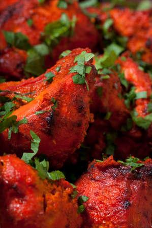 chunks: Indian food  chicken chunks marinated. Stock Photo