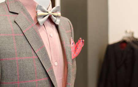 mannequin: Man costume sur un mannequin. Banque d'images